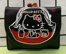 【震撼精品百貨】Hello Kitty_凱蒂貓~三麗鷗 KITTY日本珠扣短夾/零錢包-黑#13585