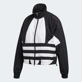 ADIDAS LARGE LOGO TRACK 女裝 外套 立領 風衣 休閒 短版 防風 復古 黑 白【運動世界】FM2622