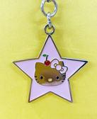 【震撼精品百貨】Hello Kitty_凱蒂貓~Sanrio HELLO KITTY手機吊飾-星星粉#14957
