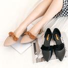 包鞋.MIT日系百搭拚色絨布蝴蝶結低跟包鞋.白鳥麗子