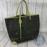 BRAND楓月 法國 FAURE LE PAGE FLP 綠邊 魚鱗紋 幾何 托特包 手提包 購物包袋