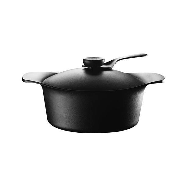 Sori Yanagi Tekki Cast Iron Pot 柳宗理 南部鐵器系列 雙耳深鍋 / 燉鍋 / 湯鍋(附黑色鐵蓋、黑色把手)