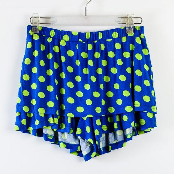 【Dailo】圓點點造型褲裙-藍