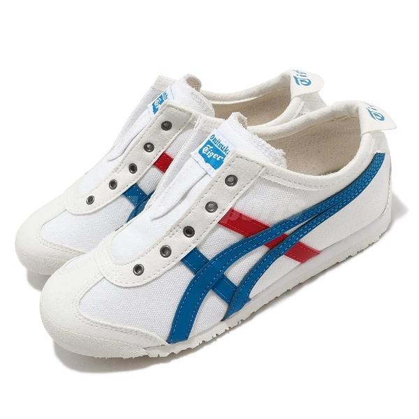 Onitsuka Tiger 休閒鞋 Mexico 66 Slip-On PS 白 藍 紅 中童鞋 小朋友 運動鞋 【ACS】 1184A085100