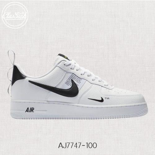 【現貨折後2812】NIKE Air Force 1 07 LV8 Utility White 白黑 男 AJ7747-100