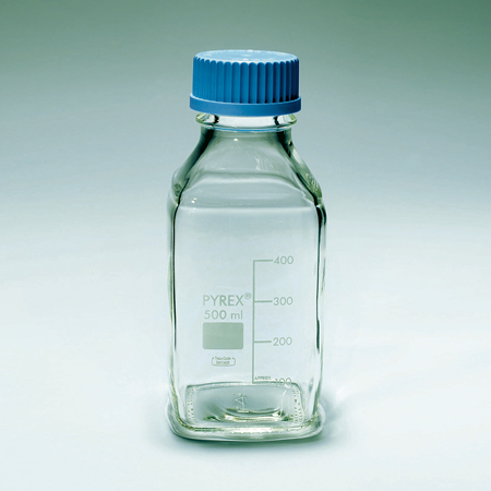 《PYREX》方型血清瓶 GL45 Bottle, Media, Screw Cap, GL45 PP Cap Square