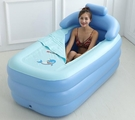 浴缸泡澡桶充氣成人全身可摺疊浴桶洗澡桶沐浴桶加厚塑料家用浴盆 小明同學