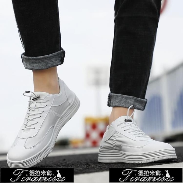 小白鞋 運動休閒男鞋潮流時尚低幫百搭板鞋透氣小白潮鞋 快速出貨