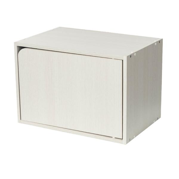 樂嫚妮 收納櫃 木門櫃-附門-木紋白