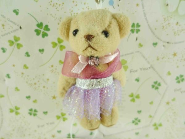 【震撼精品百貨】泰迪熊_Teddy Bear~吊飾-芭蕾-灰紫