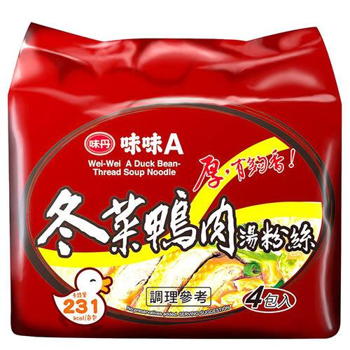 味味A冬菜鴨肉湯冬粉袋麵60g*4包【愛買】