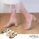 跟鞋 雙帶透明圓頭跟鞋 MA女鞋 T5897