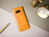 alto Samsung Galaxy S8+ 真皮手機殼背蓋 Original - 焦糖棕【可加購客製雷雕】皮革保護套