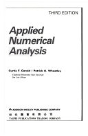 二手書博民逛書店 《Applied Numerical Analysis》 R2Y ISBN:0201115778│Addison Wesley Publishing Company