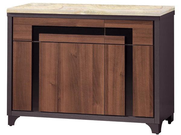 櫥櫃 餐櫃 FB-298-2 尼克絲鐵刀4尺石面碗櫃下座【大眾家居舘】