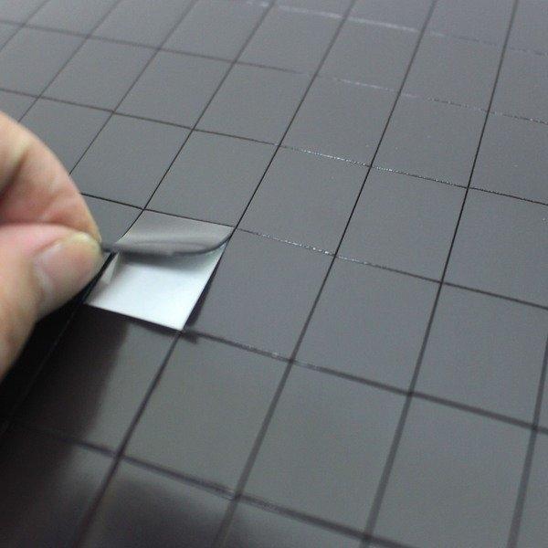 已切割背膠軟磁片 30cm x 30cm 旻新 NG-507/一小包入(定150) 背膠切割磁片 磁鐵片(一小片2公分x 2.5公分)