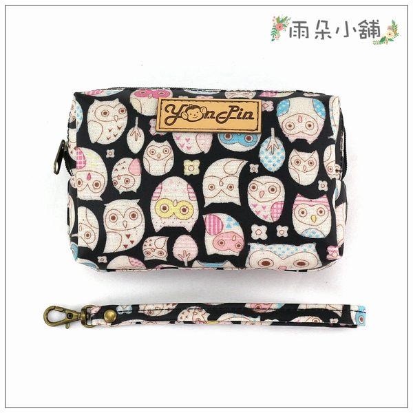 零錢包 包包 防水包 雨朵小舖 M101-566 四方大零錢包-黑眼罩貓頭鷹14252 funbaobao