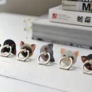 彩繪 貓咪 指環 支架 手機支架 懶人支架 金屬(顏色隨機)