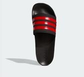 Adidas Adilette Cloudfoam男款紅黑運動拖鞋-NO.EG1884