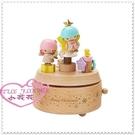小花花日本精品♥ Hello Kitty♥ 雙子星 木製立體造型 音樂盒療癒小物 聖誕星星67891207