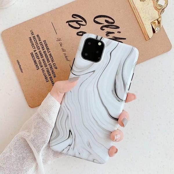 【妃航】iPhone 11 6.1 簡約/黑白/大理石紋 全包/黑邊 防摔 TPU 軟殼/保護殼/手機殼 吊飾孔