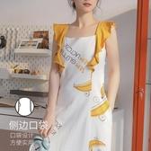 吊帶睡裙女士夏季純棉性感薄款睡衣帶胸墊洋裝子夏天孕婦家居服 阿卡娜