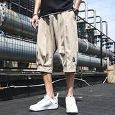 七分褲男士短褲夏季潮流休閒運動潮牌外穿寬鬆直筒冰絲五分中褲子 夢幻小鎮「快速出貨」