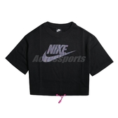 Nike 短袖T恤 NSW Icon Clash Top 黑 彩色 女款 短T 短版 潑墨 運動休閒 【ACS】 CJ2276-010
