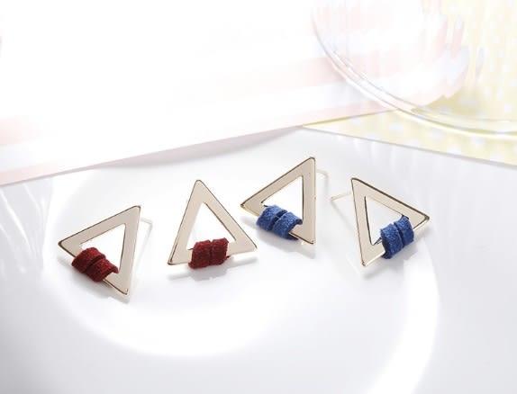 正韓鏤空三角形耳環~夏綠蒂didi-shop