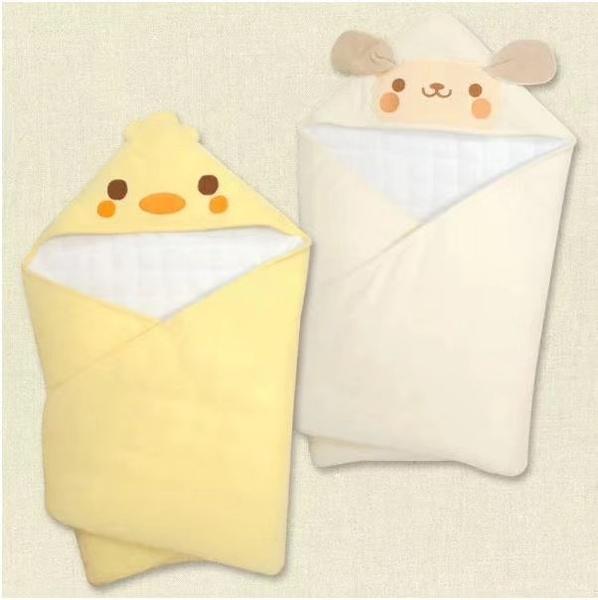 日本高品質保暖厚款包巾 舖棉包巾 毛巾包巾 新生兒 嬰兒抱毯 小棉被 80*80cm【JA0110】