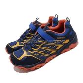 Merrell 戶外鞋 Moab FST Low A/C Waterproof 藍 黃 女鞋 大童鞋 越野 休閒鞋 運動鞋【PUMP306】 MK264179
