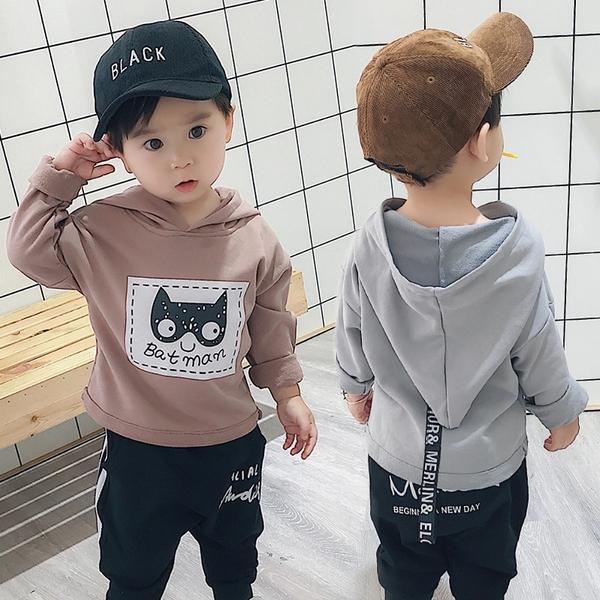 *╮小衣衫S13╭*中小男童可愛蝙蝠俠連帽長袖上衣1070845