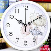 掛鐘/時鐘-靜音掛鐘客廳辦公現代創意鐘錶圓形時鐘簡約卡通掛錶時尚石英鐘錶YYP 糖糖日繫