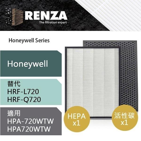 【南紡購物中心】RENZA濾網 適用Honeywell HPA-720WTW 可替代HRF-Q720 L720 HEPA活性碳濾芯