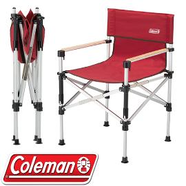 【Coleman 美國 兩段式輕巧導演椅〈紅〉】CM-31282/導演椅/折疊椅/露營椅
