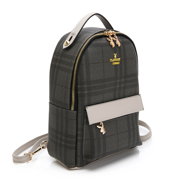 PLAYBOY- 後背包(可肩背) Scotland (蘇格蘭)系列 -灰色
