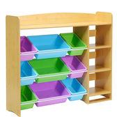 (交換禮物)玩具收納架幼兒園超大容量整理櫃置物架寶寶儲物箱兒童書架XW
