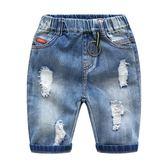 寶寶牛仔褲 2019夏裝韓版新款男童童裝兒童五分褲子kz-b033