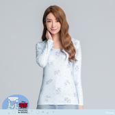 【WIWI】朋友米奇溫灸刷毛圓領發熱衣(水漾藍 女S-2XL)