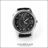 Valentino范倫鐵諾 大數字奧地利水鑽真皮手錶腕錶 情人對錶 柒彩年代【NE1089】原廠公司貨 單支