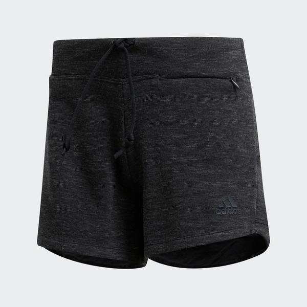 ADIDAS ID MELANG SHORT 黑灰 棉 休閒 運動 短褲 女(布魯克林) FI4099