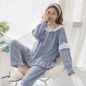 睡衣 珊瑚絨女冬季韓版秋季甜美可愛公主風家居服法蘭絨加厚保暖-BB奇趣屋