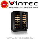 VINTEC V40DG2EBK 雙門雙溫酒櫃 黑色極致系列【贈行動冷熱箱】