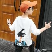 男童長袖-男童長袖T恤秋裝新款春秋洋氣童裝兒童打底衫寬鬆 東川崎町