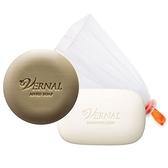 日本唯娜露 W潔顏組 活力潔顏皂30g+ 美肌水嫩皂30g 起泡網