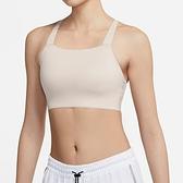 Nike AS W DF Swsh Luxe LL Bra 女 奶茶色 中度 支撐 訓練 慢跑 CJ0545-207