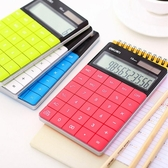 得力太陽能便攜平板計算器學生用辦公大按鍵可愛韓國小清新糖果色計算機小號 雙十二全館免運