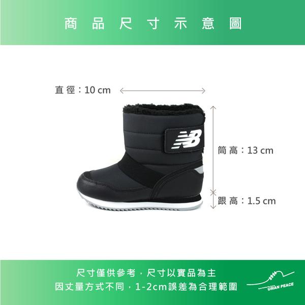 New Balance 運動鞋 短靴 魔鬼氈 黑色 童鞋 YO996BBK-W no695