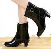 中筒雨靴-走秀款防滑百搭防水女雨鞋8色5s55[時尚巴黎]