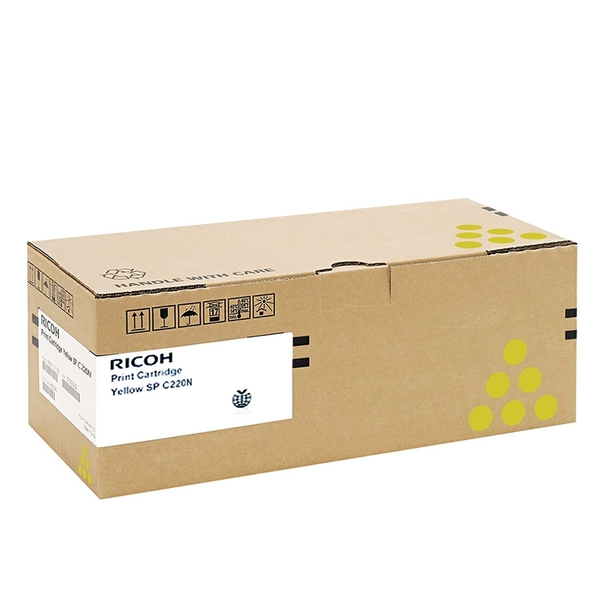原廠碳粉匣 RICOH 黃色 SP C220N Y /適用RICOH Aficio SP C220N/SP C240DN